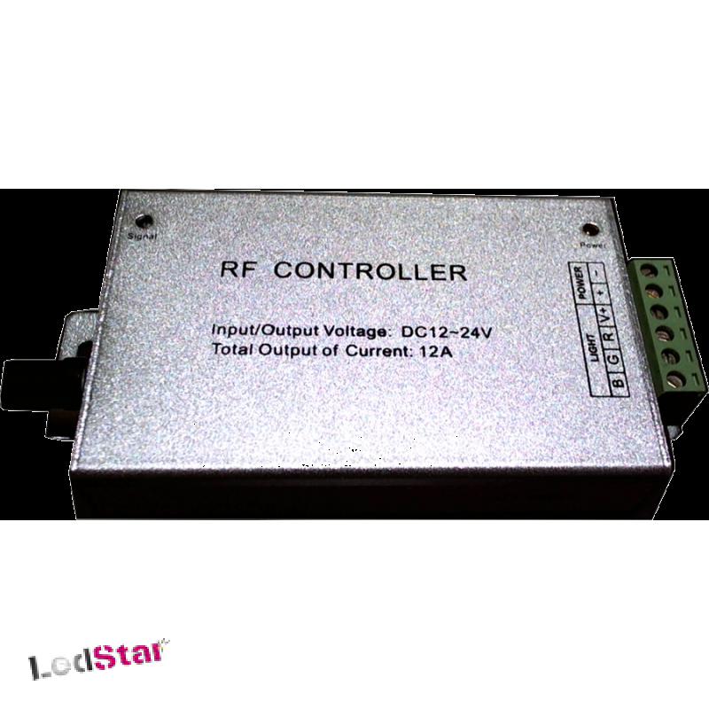 3 Kanal RGB Funk LED Kontroller 12-24 Volt mit Musiksteuerung