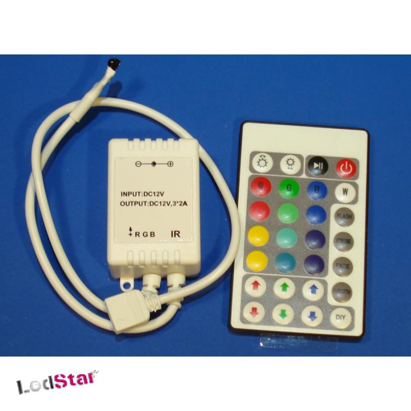 3 Kanal RGB IR LED Kontroller 12 Volt