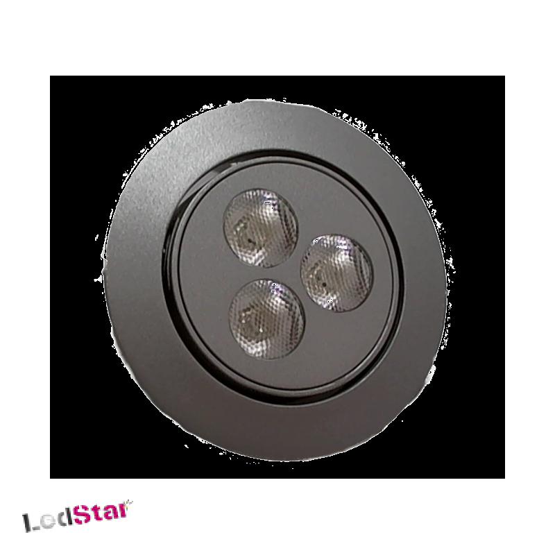 Einbaustrahler 3 Watt LED warmweiss ohne Konstantstromquelle