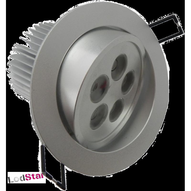 Einbaustrahler 5 Watt LED Cree warmweiss Vollaluminium inkl. Treiber 240 Volt
