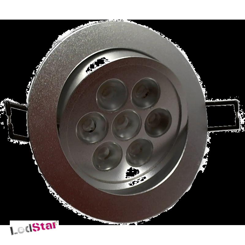 Einbaustrahler 7x1 Watt LED Nichia weiss Vollaluminium inkl. Treiber 240 Volt