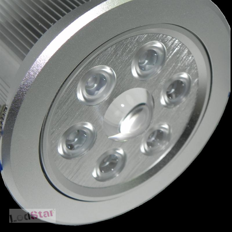 Einbaustrahler 7x3 Watt LED Cree warmweiss Vollaluminium inkl. Treiber 265 Volt
