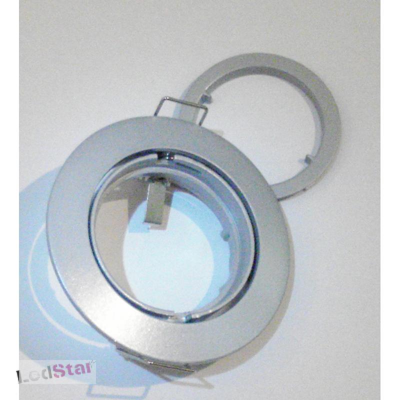 Einbaustrahler GU10 Vollaluminium Steingrau ohne Leuchtmittel