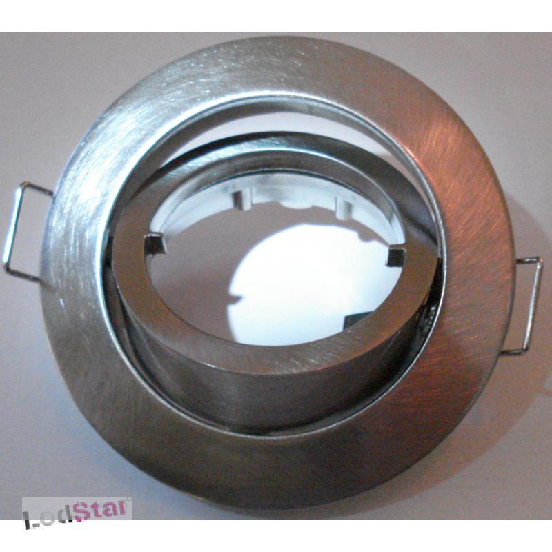 Einbaustrahler GU10 Vollaluminium gebürstet ohne Leuchtmittel