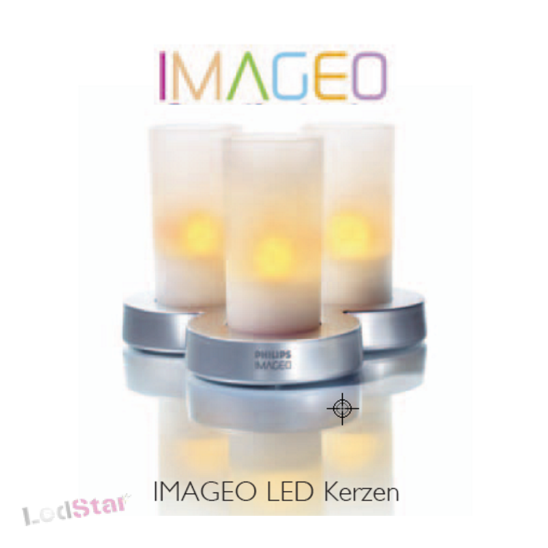 IMAGEO LED Kerzen 3er SET Blue