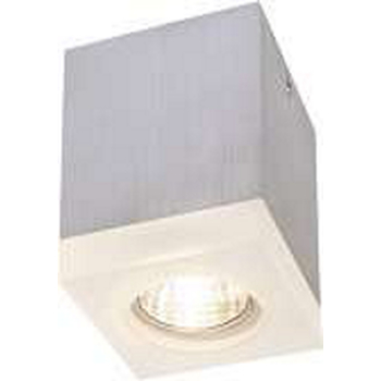 Tigla Square Single Deckenlampe aus Aluminium GU 10 Alu brushed