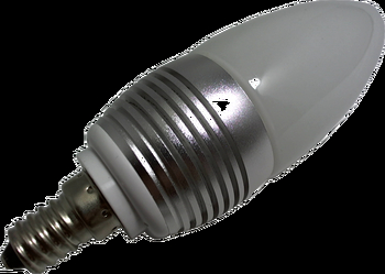 Power LED Lampe E14 3x1Watt - weiss dimmbar