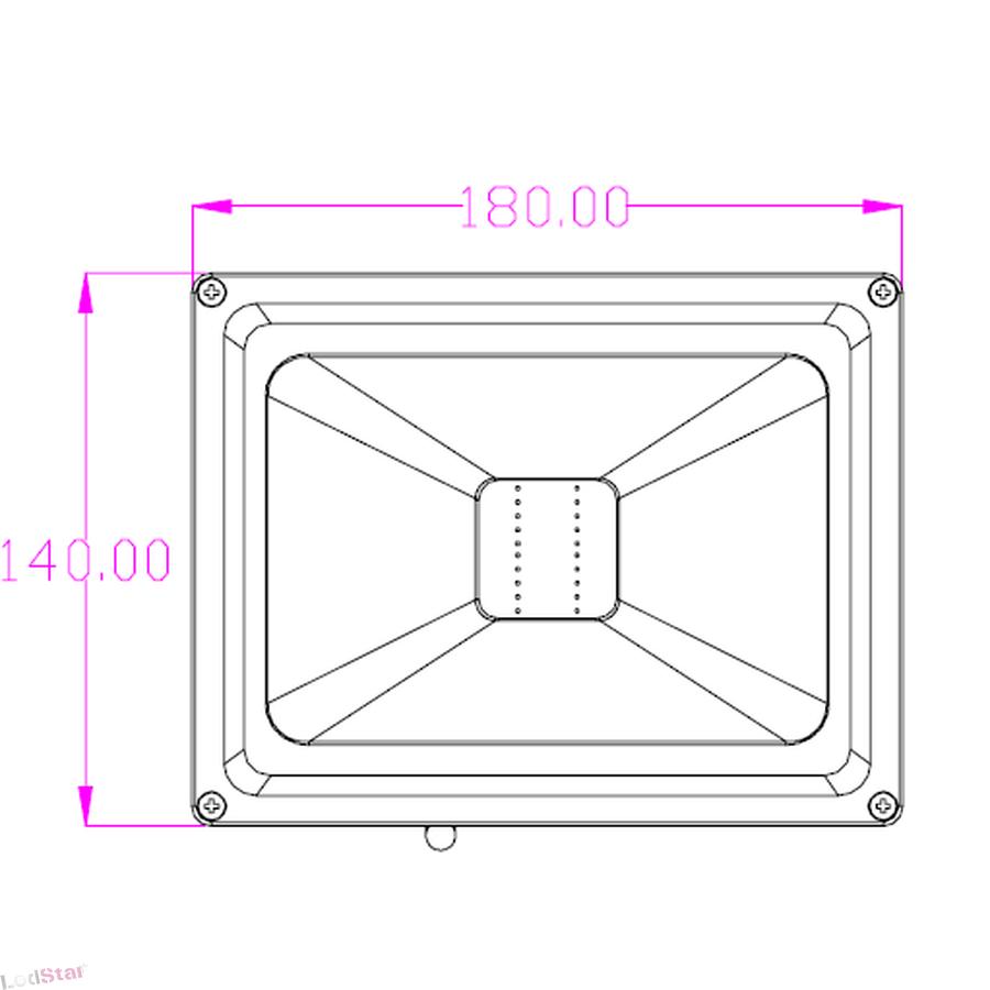 led strahler 20 watt warmweiss geh use grau chf. Black Bedroom Furniture Sets. Home Design Ideas