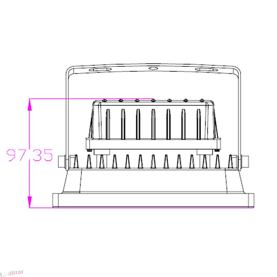led strahler 20 watt warmweiss geh use schwarz mit bewegungsmeld. Black Bedroom Furniture Sets. Home Design Ideas